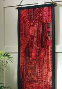 Wallhanging~ Bohemian Hippy Cotton and Rayon Mix Red Wallhanging~ By Folio Gothic Hippy WH2